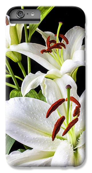 Lily iPhone 6 Plus Case - Three White Lilies by Garry Gay