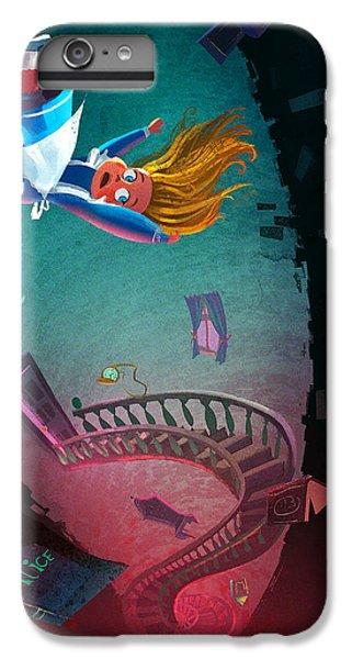 Rabbit iPhone 6 Plus Case - Through The Rabbit Hole by Kristina Vardazaryan
