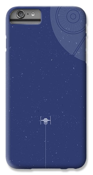 Space Ships iPhone 6 Plus Case - Tie Fighter Defends The Death Star by Samuel Whitton