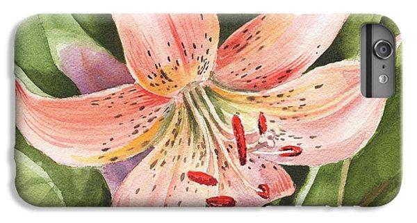 Lily iPhone 6 Plus Case - Tiger Lily Watercolor By Irina Sztukowski by Irina Sztukowski