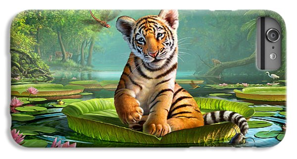 Tiger Lily IPhone 6 Plus Case by Jerry LoFaro