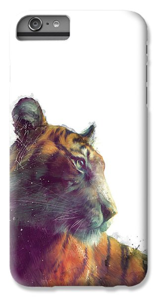 Tiger iPhone 6 Plus Case - Tiger // Solace - White Background by Amy Hamilton
