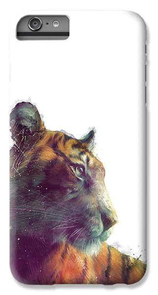 Tiger // Solace - White Background IPhone 6 Plus Case by Amy Hamilton