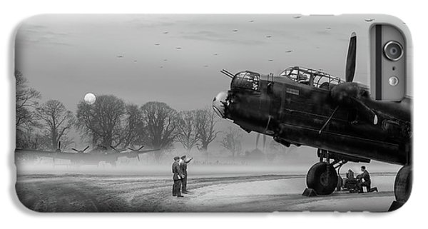 IPhone 6 Plus Case featuring the photograph Time To Go - Lancasters On Dispersal Bw Version by Gary Eason