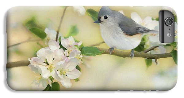 Titmouse iPhone 6 Plus Case - Titmouse In Blossoms 2 by Lori Deiter