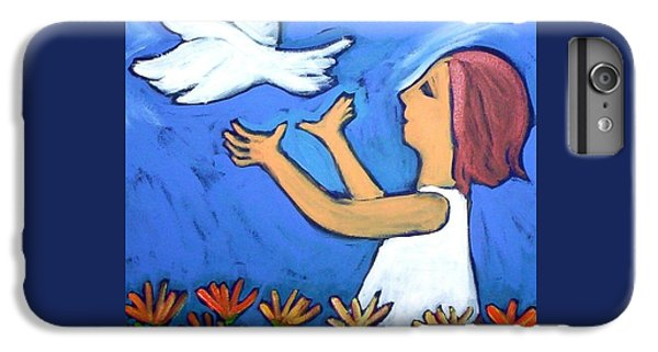 IPhone 6 Plus Case featuring the painting To Fly Free by Winsome Gunning