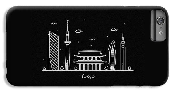 Tokyo Skyline iPhone 6 Plus Case - Tokyo Skyline Travel Poster by Inspirowl Design