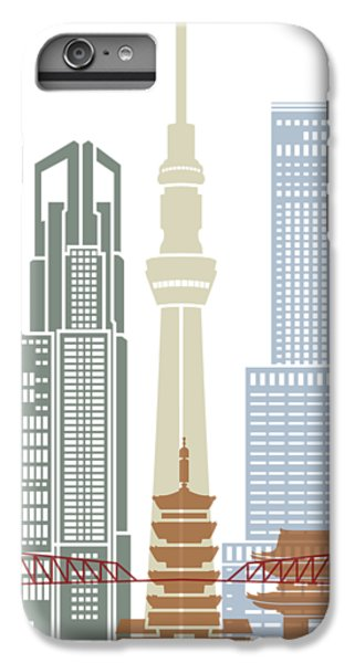 Tokyo V2 Skyline Poster IPhone 6 Plus Case by Pablo Romero