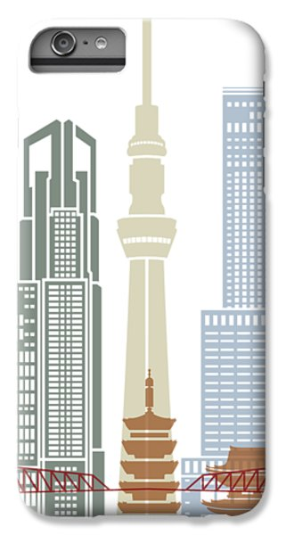 Tokyo V2 Skyline Poster IPhone 6 Plus Case by Pablo Romero