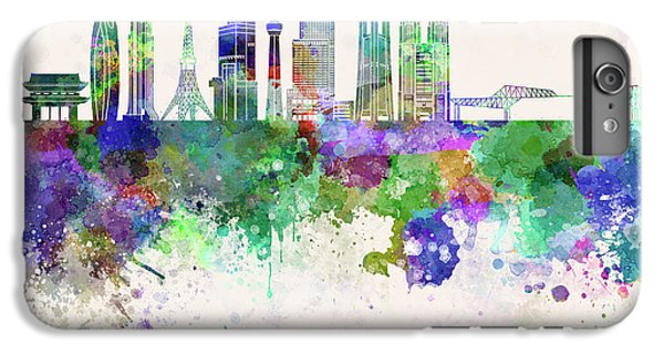 Tokyo V3 Skyline In Watercolor Background IPhone 6 Plus Case