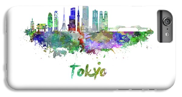 Tokyo V3 Skyline In Watercolor IPhone 6 Plus Case by Pablo Romero