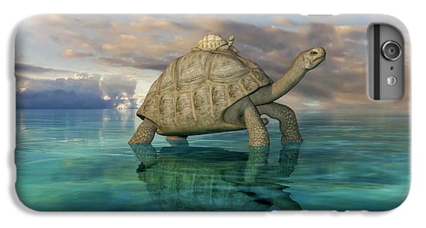 Tortoise iPhone 6 Plus Case - Top Of The World by Betsy Knapp