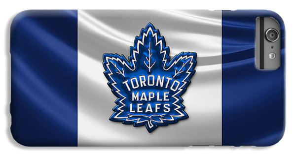 Sport iPhone 6 Plus Case - Toronto Maple Leafs - 3d Badge Over Flag by Serge Averbukh