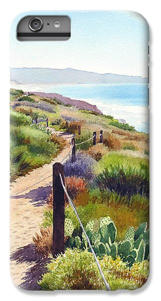 Pacific Ocean iPhone 6 Plus Case - Torrey Pines Guy Fleming Trail by Mary Helmreich
