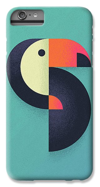Toucan iPhone 6 Plus Case - Toucan Geometric Airbrush Effect by Ivan Krpan