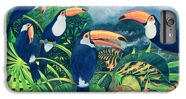 Toucan iPhone 6 Plus Case - Toucan Talk by Lisa Graa Jensen