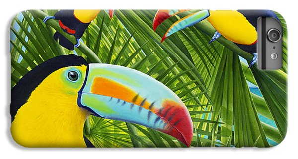 Toucan iPhone 6 Plus Case - Toucan Threesome by Carolyn Steele