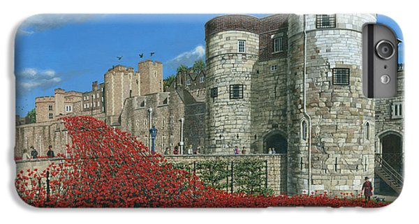 Tower Of London Poppies - Blood Swept Lands And Seas Of Red  IPhone 6 Plus Case by Richard Harpum