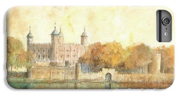 Tower Of London Watercolor IPhone 6 Plus Case by Juan Bosco