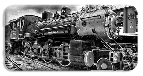 Train iPhone 6 Plus Case - Train - Steam Engine Locomotive 385 In Black And White by Paul Ward