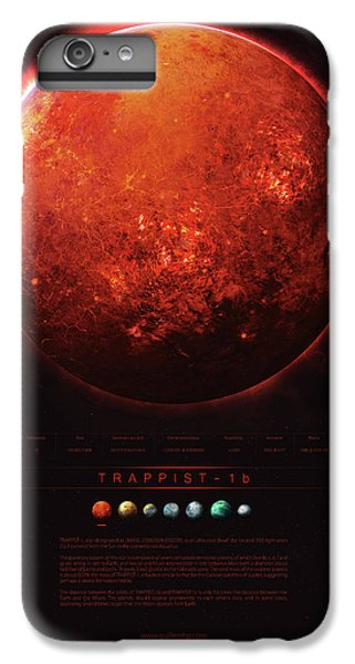 Planets iPhone 6 Plus Case - Trappist-1b by Guillem H Pongiluppi