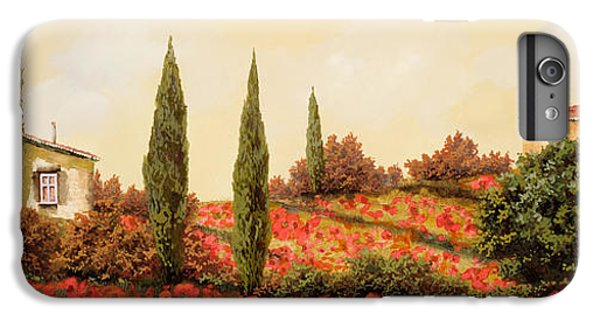 Landscape iPhone 6 Plus Case - Tre Case Tra I Papaveri by Guido Borelli