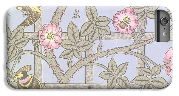 Trellis   Antique Wallpaper Design IPhone 6 Plus Case by William Morris