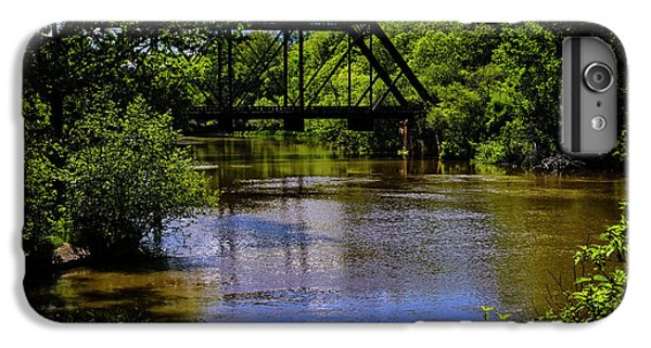 IPhone 6 Plus Case featuring the photograph Trestle Over River by Mark Myhaver
