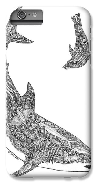 Tribal Great White And Sea Lion IPhone 6 Plus Case by Carol Lynne