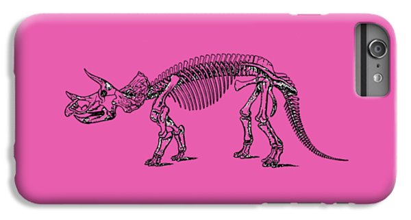 Triceratops Dinosaur Tee IPhone 6 Plus Case by Edward Fielding