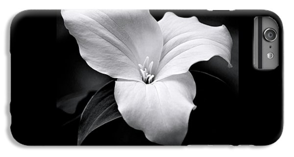 IPhone 6 Plus Case featuring the photograph Trillium Black And White by Christina Rollo