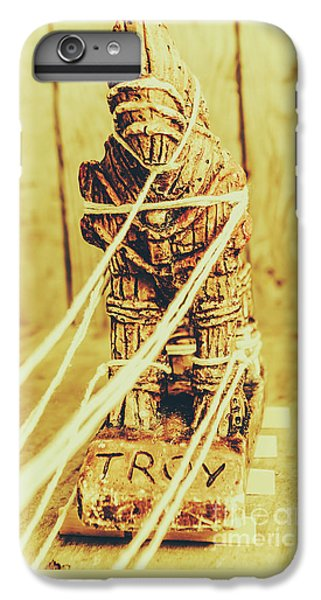 Turkey iPhone 6 Plus Case - Trojan Horse Wooden Toy Being Pulled By Ropes by Jorgo Photography - Wall Art Gallery