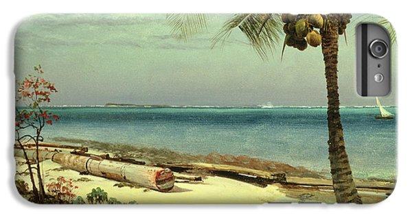Beach iPhone 6 Plus Case - Tropical Coast by Albert Bierstadt