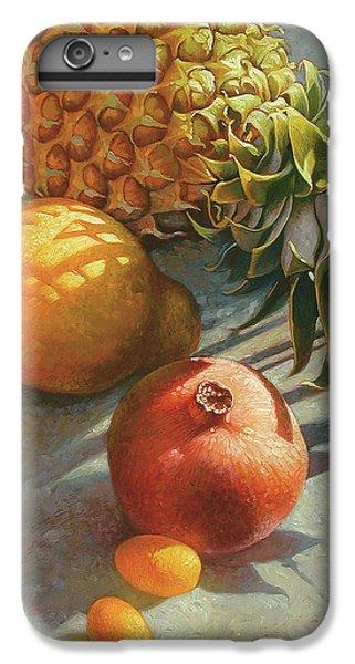 Pear iPhone 6 Plus Case - tropical Fruit Large by Mia Tavonatti