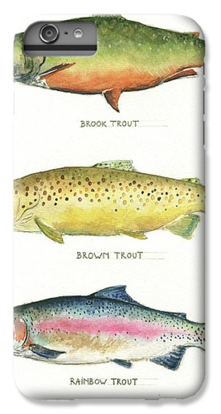 Trout Species IPhone 6 Plus Case by Juan Bosco