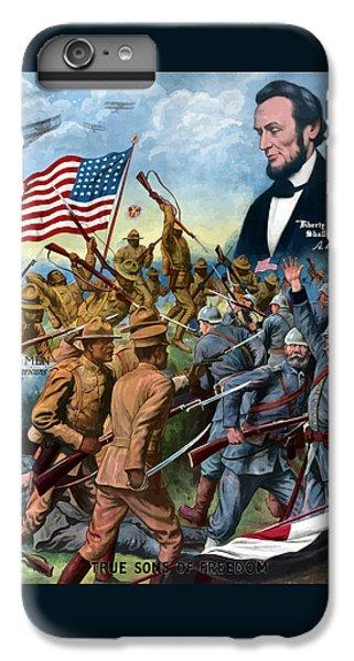 True Sons Of Freedom -- Ww1 Propaganda IPhone 6 Plus Case by War Is Hell Store
