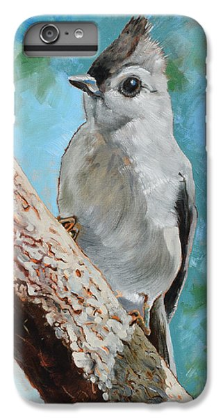 Titmouse iPhone 6 Plus Case - Tufted Titmouse #1 by Amber Foote