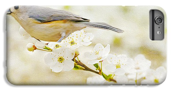 Titmouse iPhone 6 Plus Case - Tufted Titmouse With Seed by Laura D Young