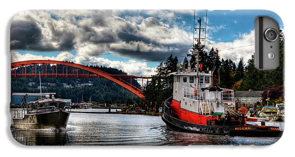 Tugboat At The Rainbow Bridge IPhone 6 Plus Case by David Patterson