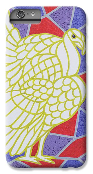 Turkey On Stained Glass IPhone 6 Plus Case
