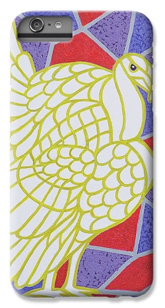 Turkey On Stained Glass IPhone 6 Plus Case by Pat Scott