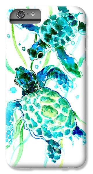 Turquoise Indigo Sea Turtles IPhone 6 Plus Case
