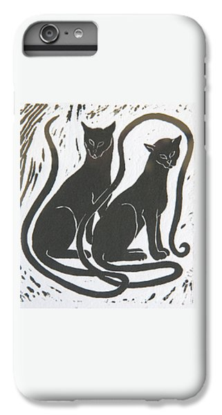 Two Black Felines IPhone 6 Plus Case by Nareeta Martin