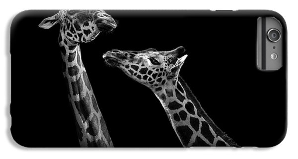 Two Giraffes In Black And White IPhone 6 Plus Case