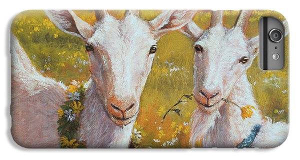 Two Goats Of Summer IPhone 6 Plus Case by Tracie Thompson