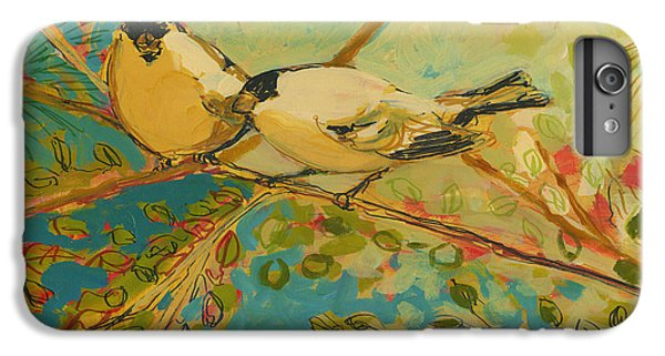 Wildlife iPhone 6 Plus Case - Two Goldfinch Found by Jennifer Lommers