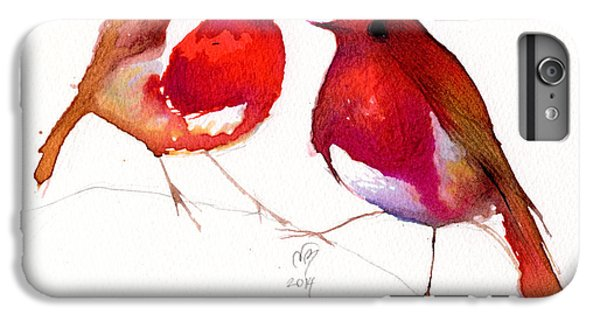 Two Little Birds IPhone 6 Plus Case by Nancy Moniz