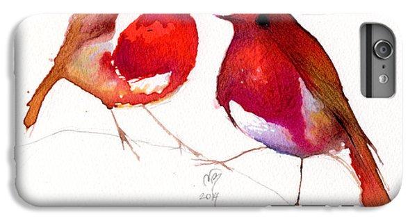 Lovebird iPhone 6 Plus Case - Two Little Birds by Nancy Moniz