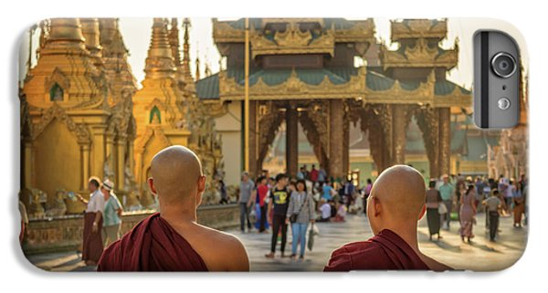 Burmese Python iPhone 6 Plus Case - Two Monks by Delphimages Photo Creations