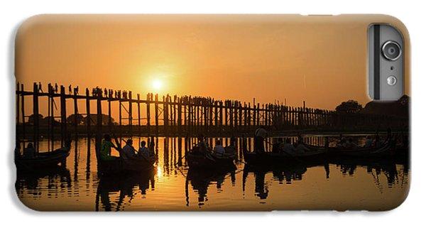 Burmese Python iPhone 6 Plus Case - U Bein Bridge At Sunset by Delphimages Photo Creations